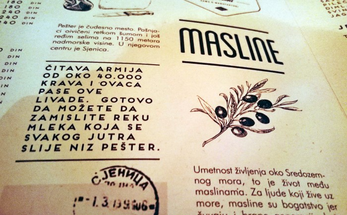 Menu Manufaktura