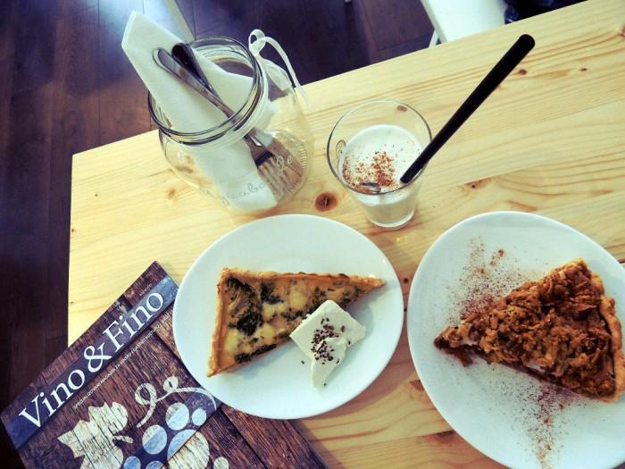 Slani i slatki tart  i mleko sa cimetom