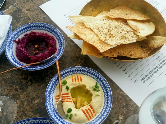 humus mezze-lavash